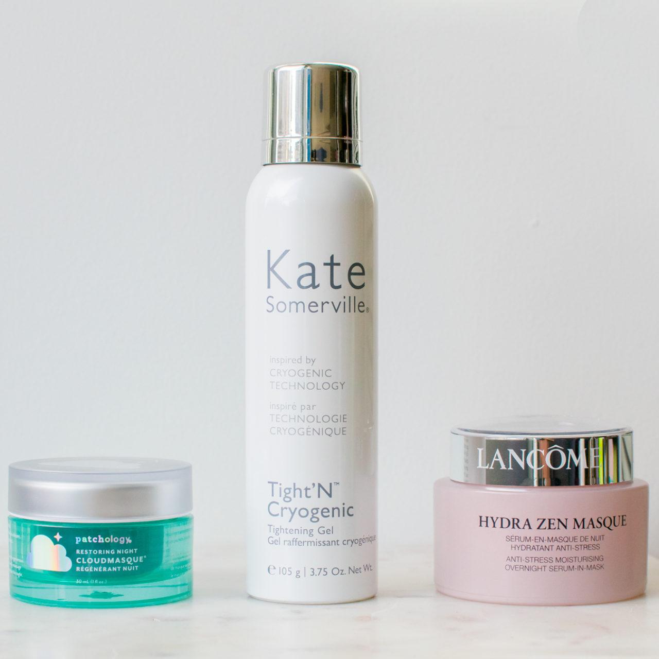 Beauty Finds – Some Skin Care Updates – Kate Somerville Tight'N Cryogenic Tightening Gel, Lancôme Hydra Zen Night Masque, Patchology Restoring Night CloudMasque® Night Cream