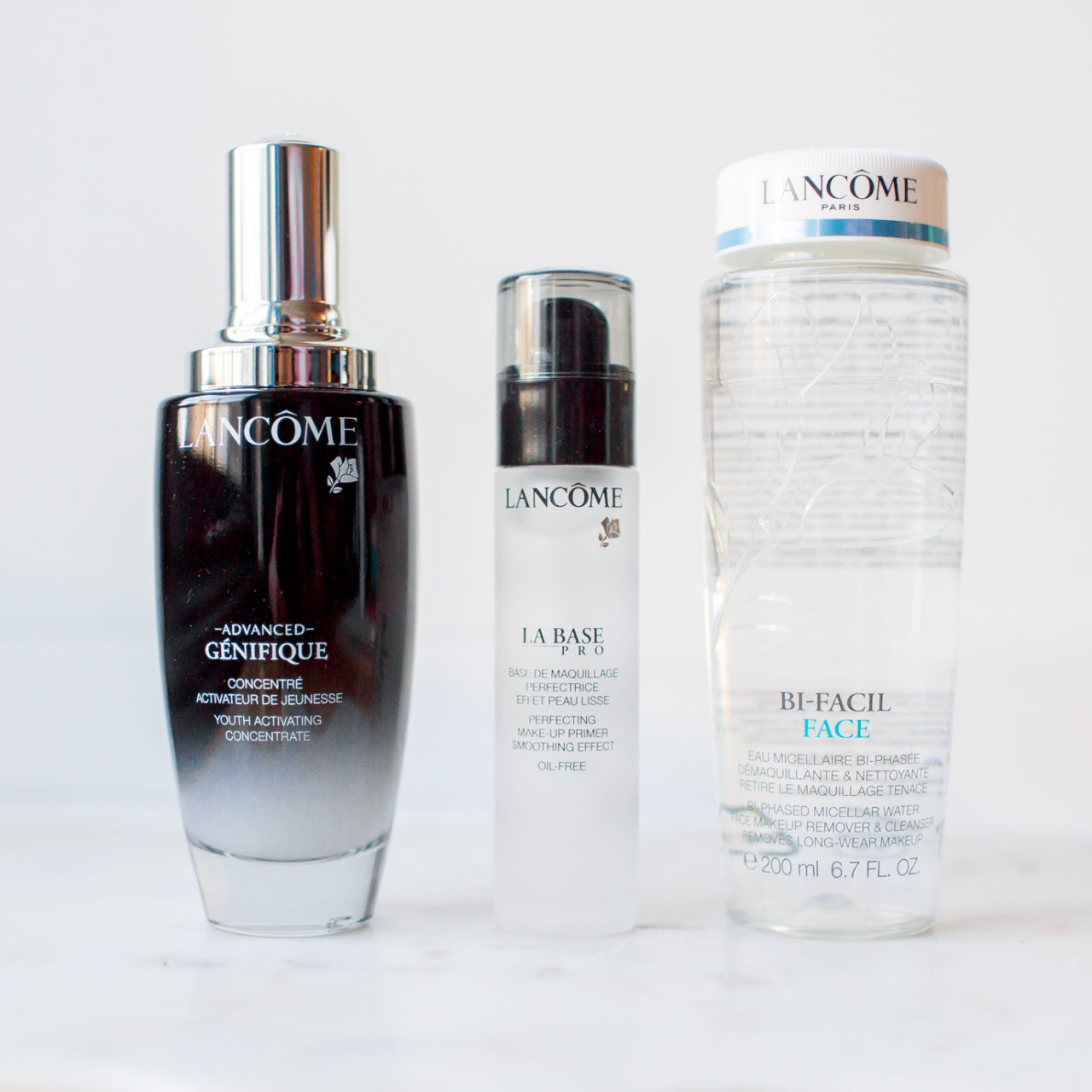 Beauty Finds – Lancôme Bi-facil Face Makeup Remover, Advanced Genefique Youth Activating Concentrate Serum, & La Base Pro Perfecting Makeup Primer