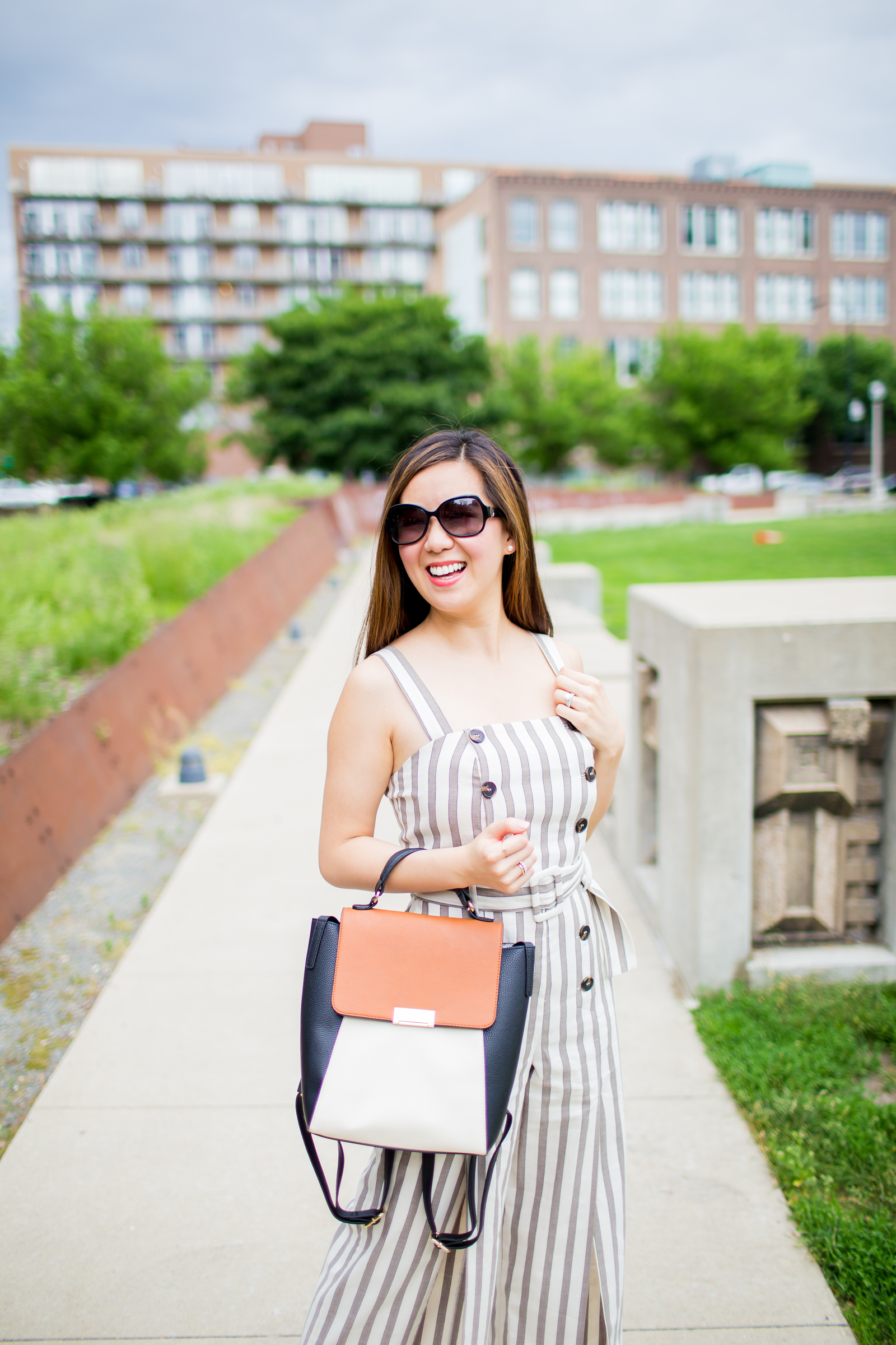 049db550094 button down striped jumpsuit tia perciballi chicago fashion and lifestyle  blog
