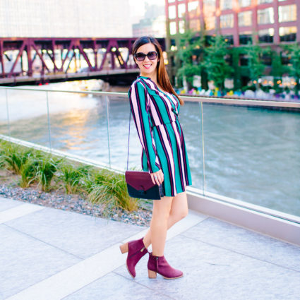 Striped Faux Wrap Dress & the First Weekend of Fall
