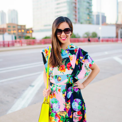 All-Occasion, Bold and Colorful Cowl Back Dress