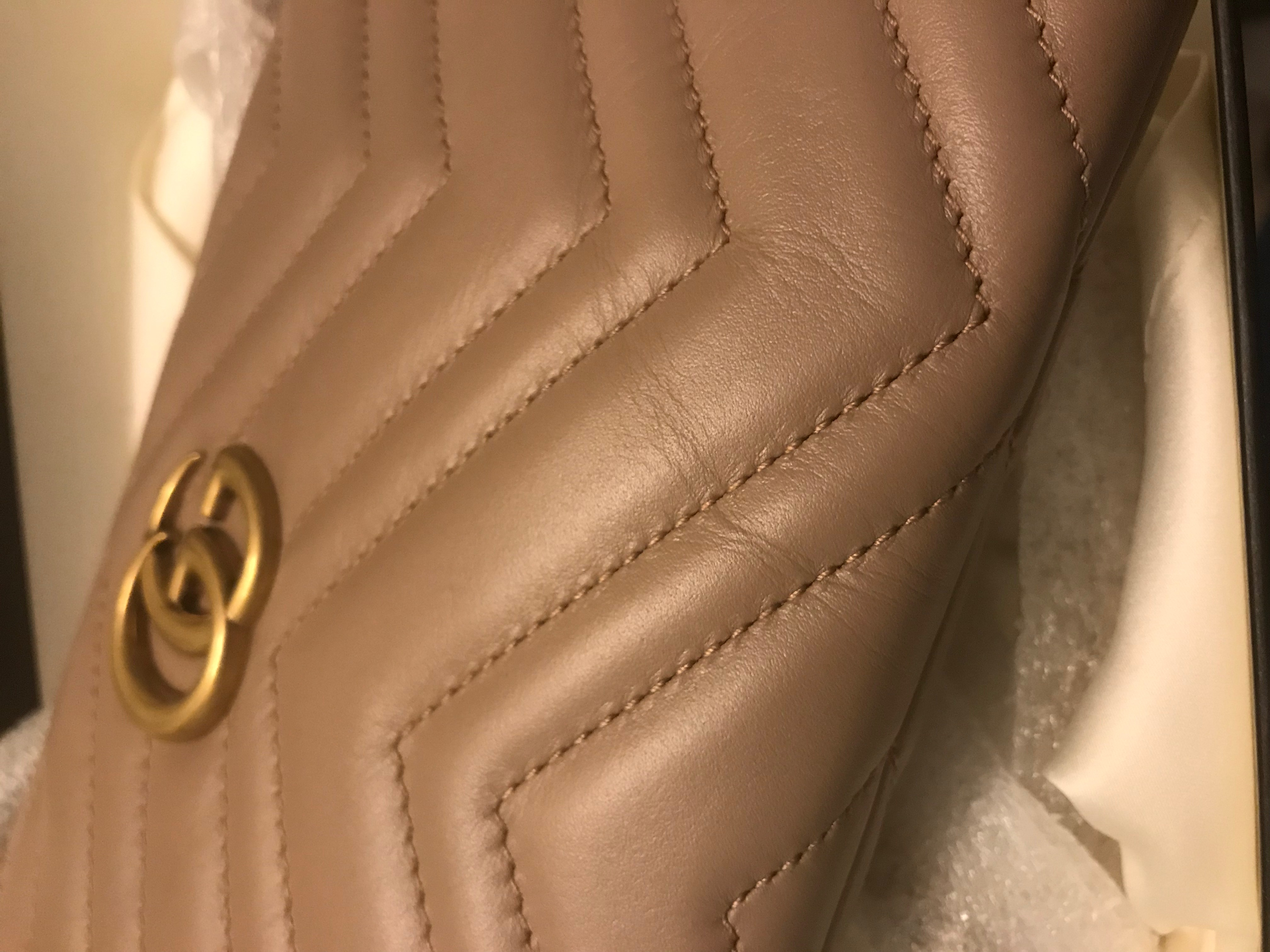 Gucci Marmont Leather Crinkled - Tia Perciballi