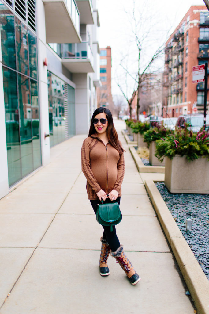 Cable Zip Sweater and DeMellier Mini Venice Bag, Tia Perciballi Fashion & Lifestyle Blog