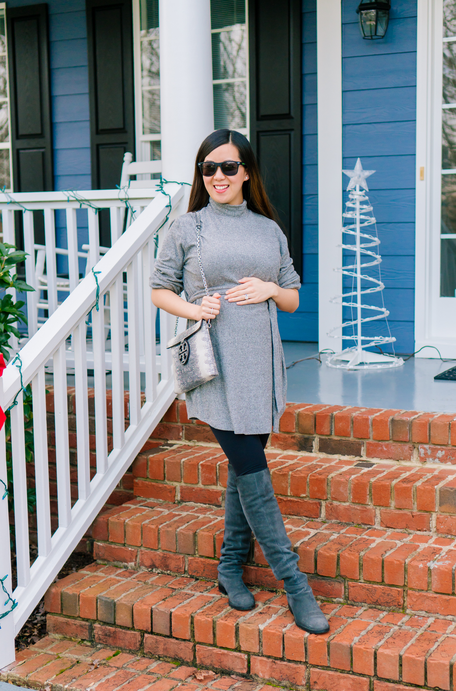 6b1630dffaa Belted Turtleneck Sweater Dress + Thoughts on the New Year