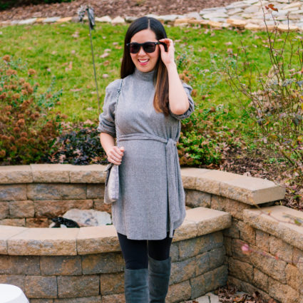 Belted Turtleneck Sweater Dress + Thoughts on the New Year