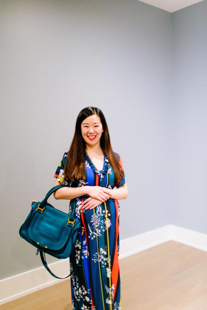 Colorful Maternity Dress, Tia Perciballi Fashion & Lifestyle Blog