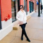Zella Fleece + Gucci Marmont Matelasse Shoulder Bag