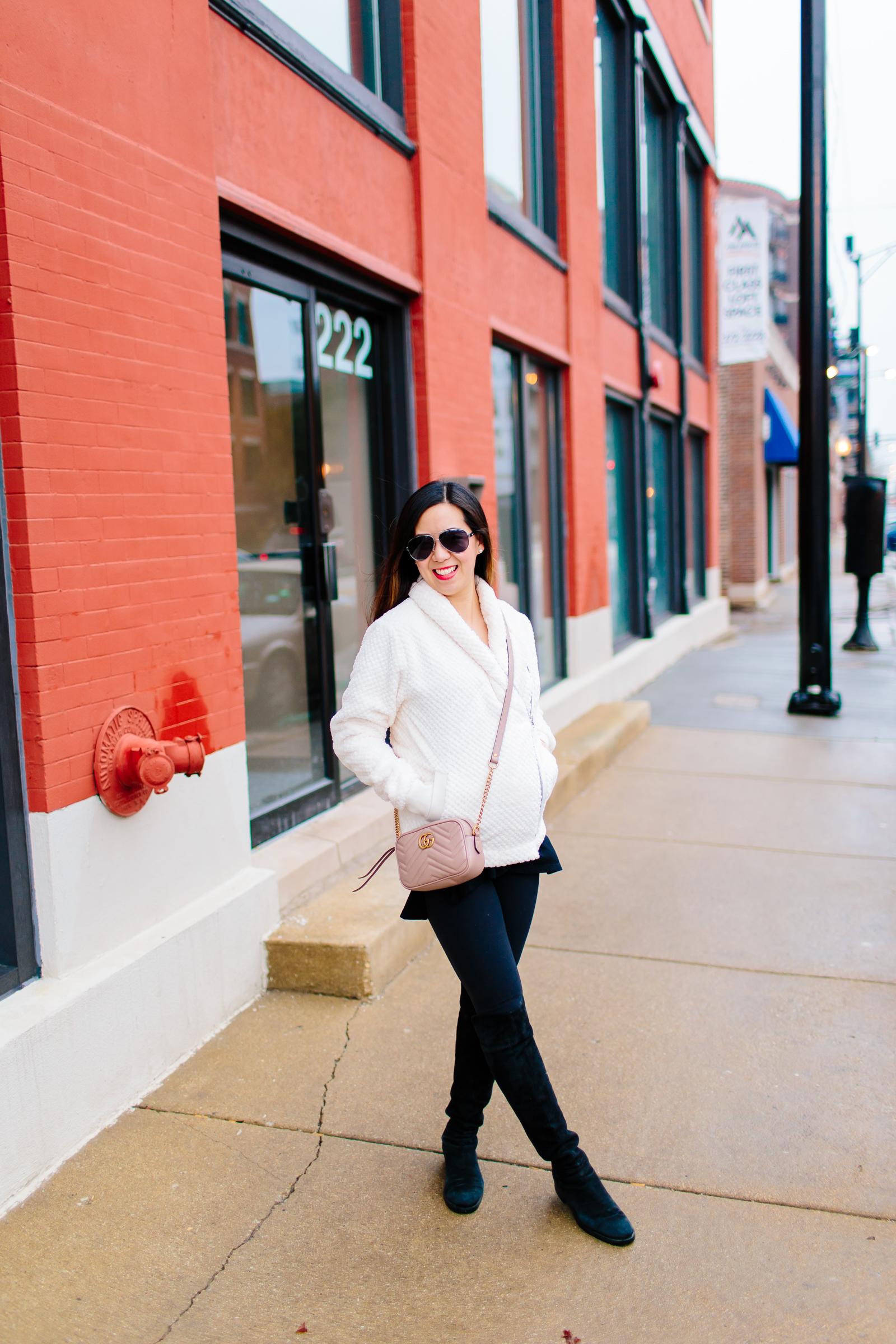 Zella Fleece + Gucci Marmont Matelasse Shoulder Bag, Tia Perciballi Fashion & Lifestyle Blog